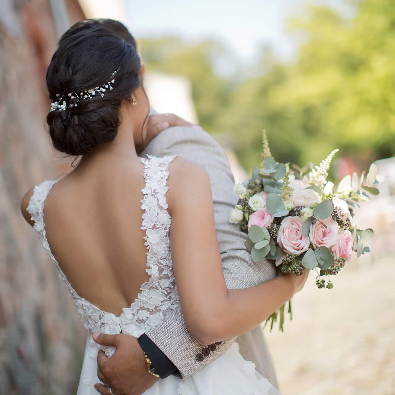 Hochzeitsfrisur braune haare