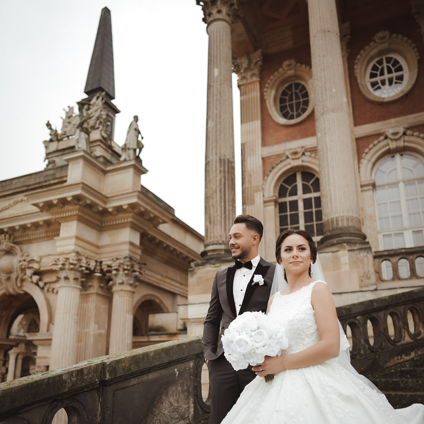 Hochzeits Foto braut Kleid